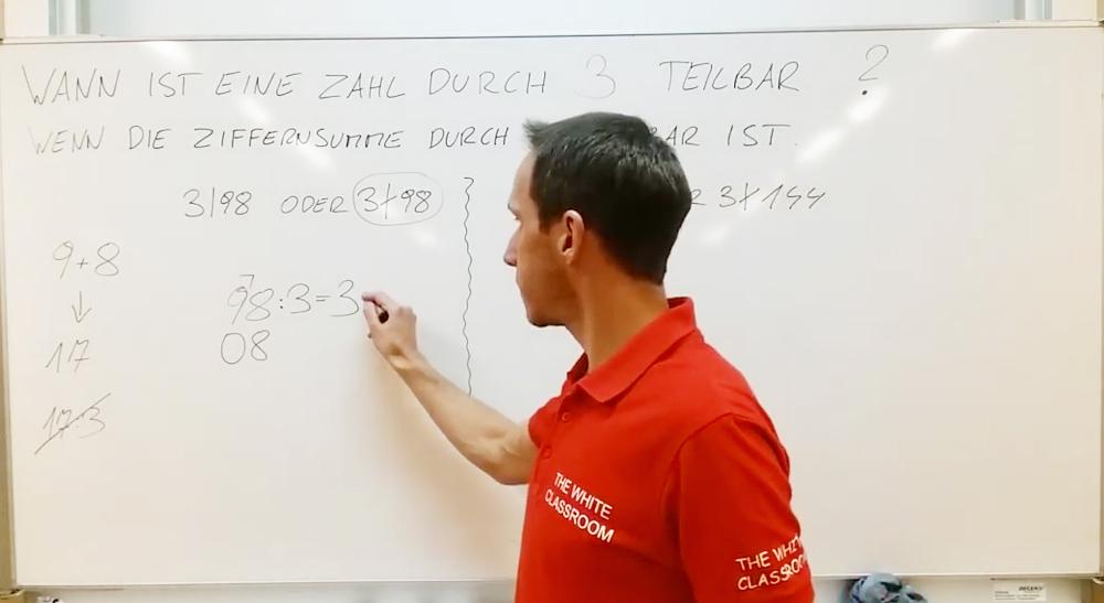 Anwendungsbeispiele zu den Teilbarkeitsregeln | thewhiteclassroom.at