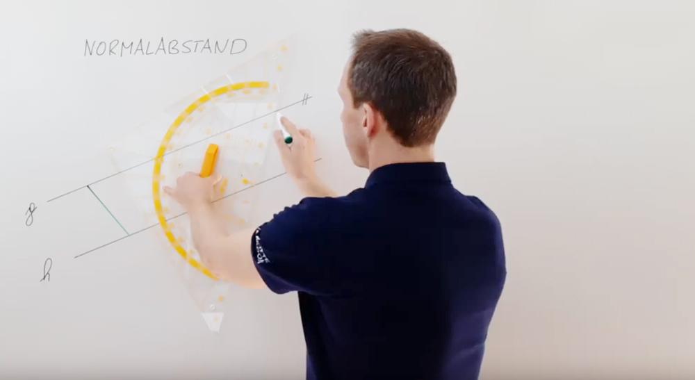Normalabstand zwischen Geraden und Punkten | thewhiteclassroom.at