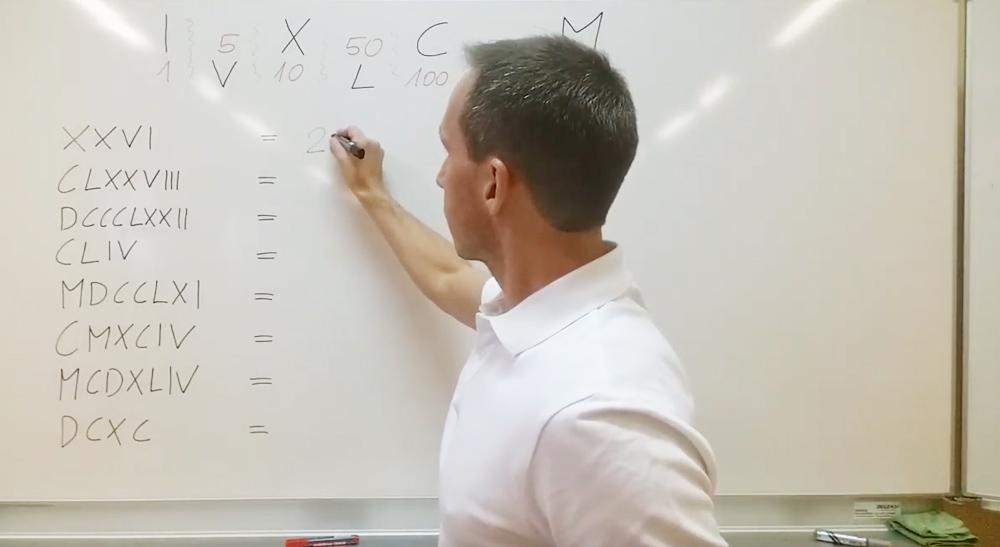 Römische Zahlen in arabische Zahlen verwandeln | thewhiteclassroom.at