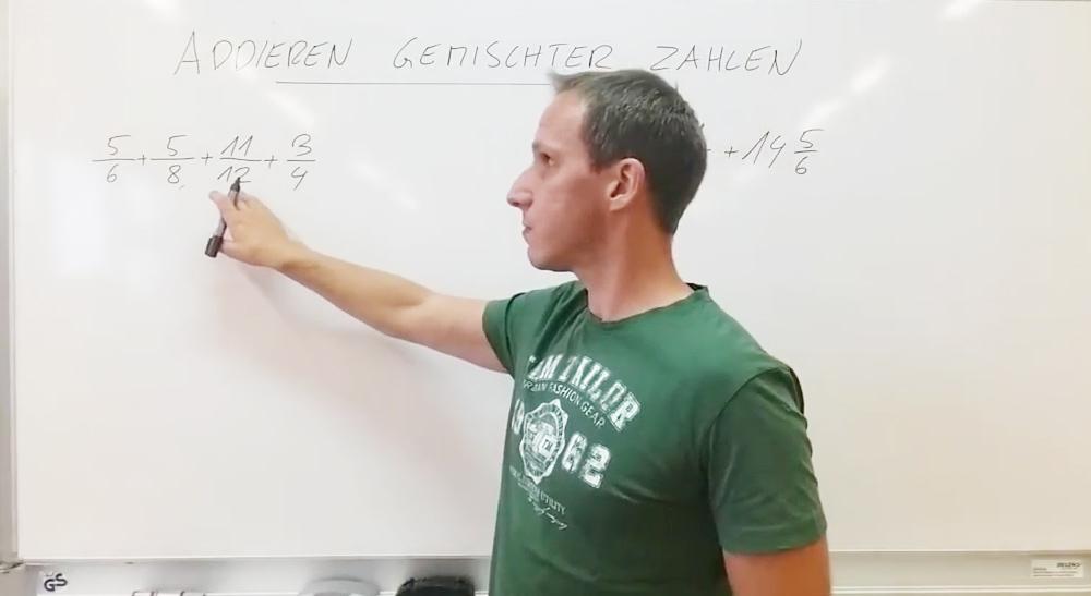 Addition von Brüchen | thewhiteclassroom.at
