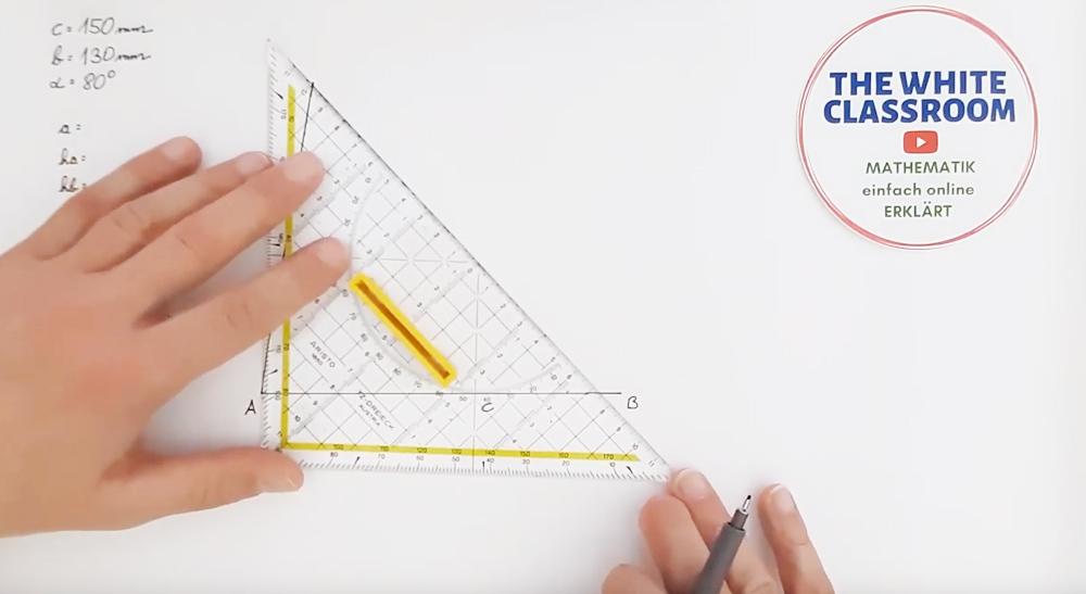 Anwendungsbeispiel 3 - Konstruktion aller 4 Punkte + e - Gerade (4 Videos)