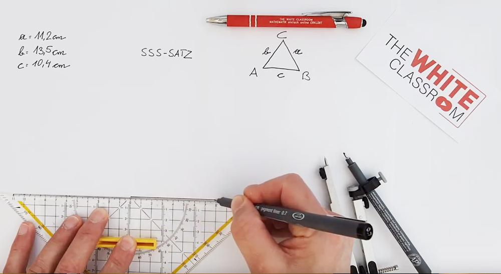 Konstruktion nach dem SSS - Satz (Seite, Seite, Seite) (7 Videos)
