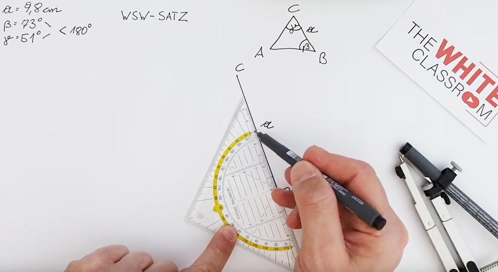 Konstruktion nach dem WSW - Satz | thewhiteclassroom.at