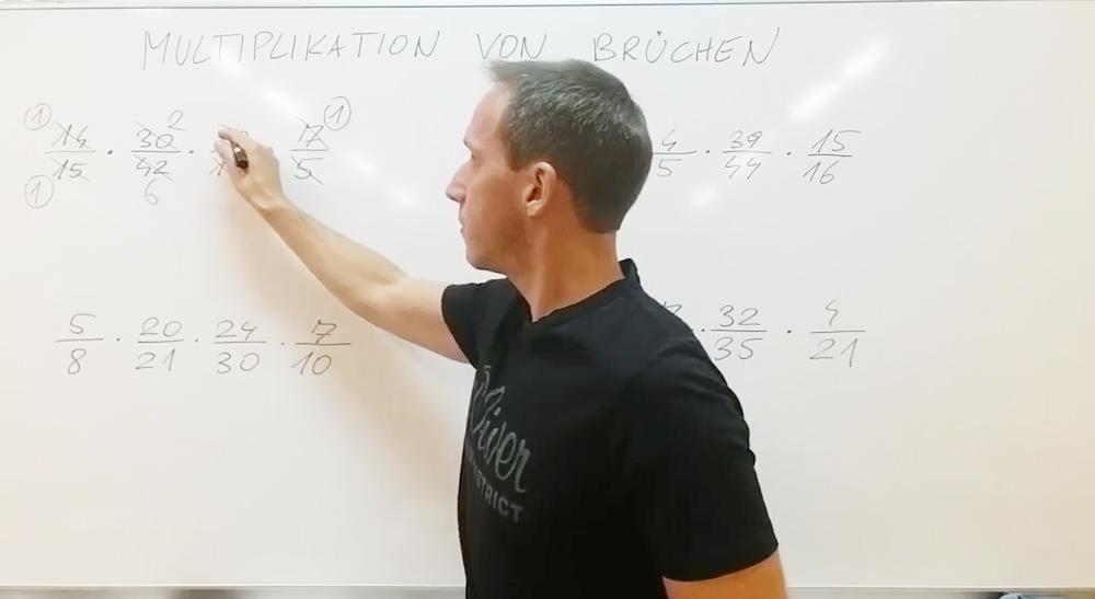 Multiplikation von Brüchen | thewhiteclassroom.at