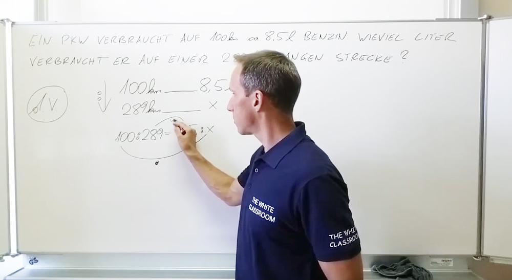 Schlussrechnungen - Direktes Verhältnis | thewhiteclassroom.at