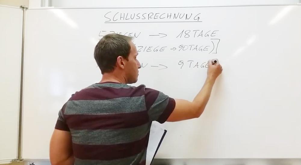 Schlussrechnungen - Grundlagen | thewhiteclassroom.at