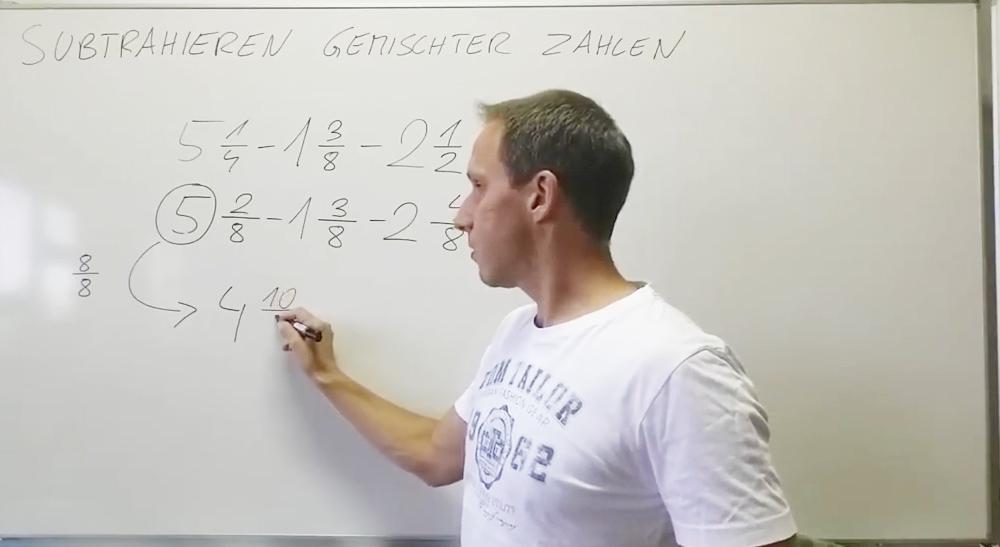 Subtraktion von Brüchen | thewhiteclassroom.at