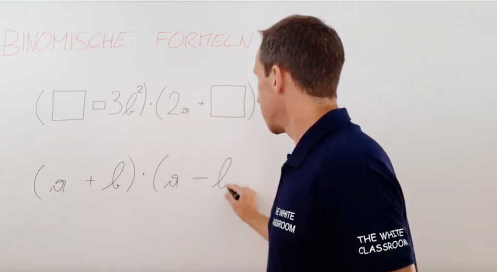 Binomische Formeln - Ergänzungen | thewhiteclassroom.at
