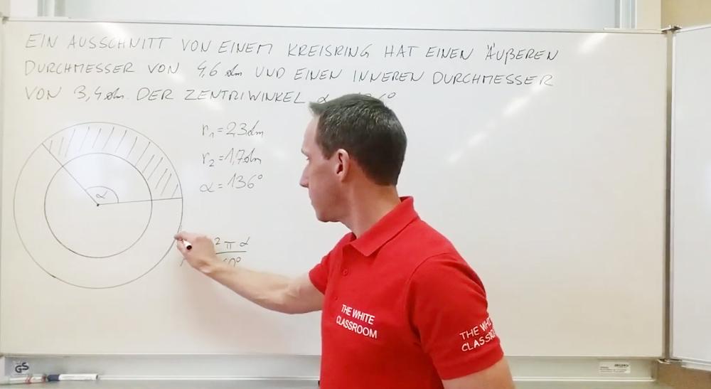 Anwendung zu Kreisring und Kreissektor | thewhiteclassroom.at