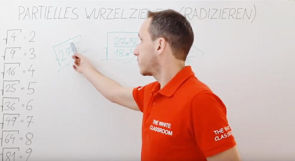 Partielles (teilweises) Wurzelziehen | thewhiteclassroom.at